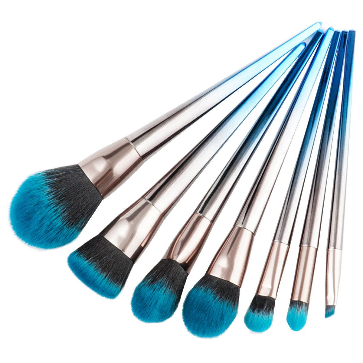 7Pcs Makeup Brushes Foundation Eyeshadow Eyeliner Lip Brush Cosmetic Set Kit