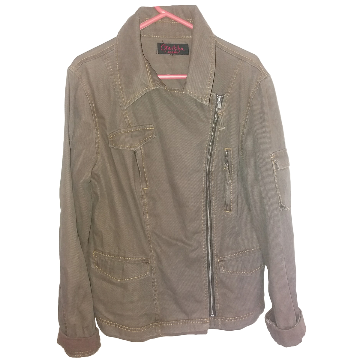 Non Signé / Unsigned \N Brown Cotton jacket for Women 44 IT