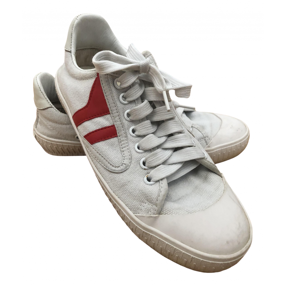 Celine Triomphe White Cloth Trainers for Women 38 EU