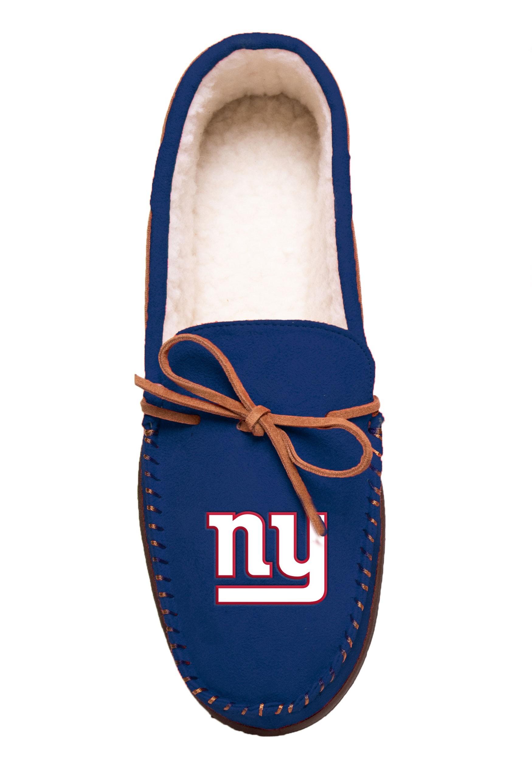 Team Color New York Giants Big Logo Moccasin
