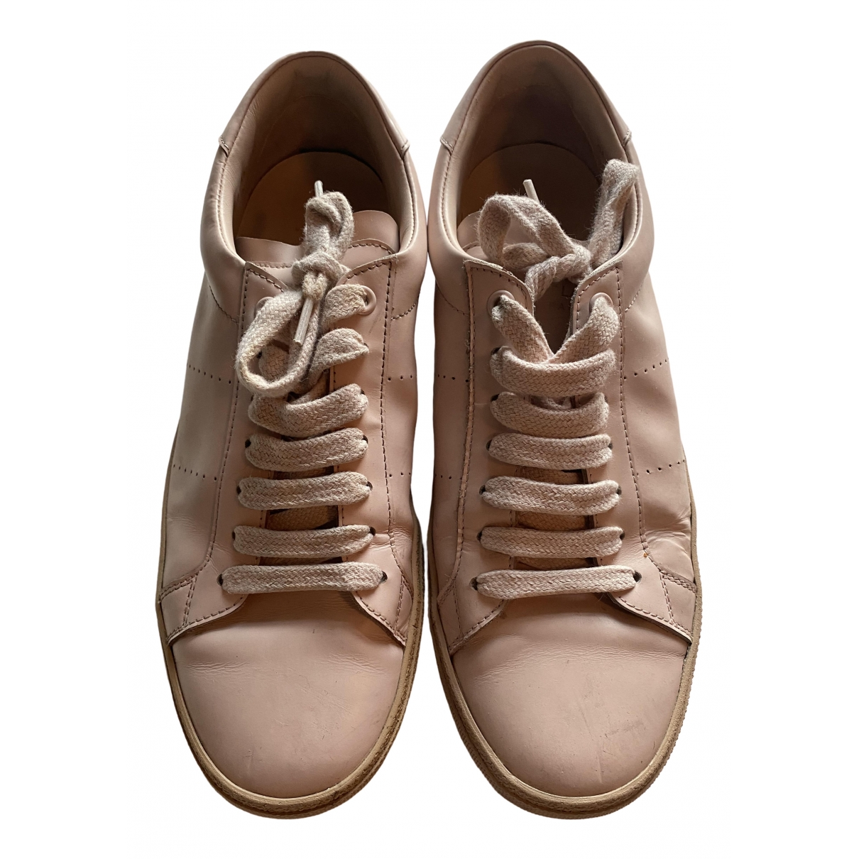 Saint Laurent Andy Pink Leather Trainers for Women 40 EU
