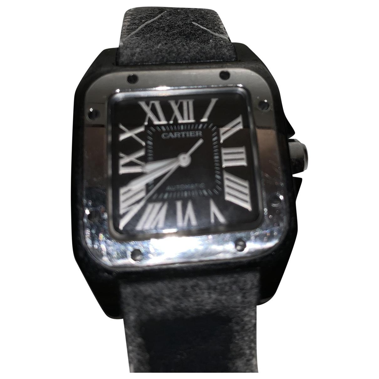 Cartier Santos 100 XL Black watch for Women \N