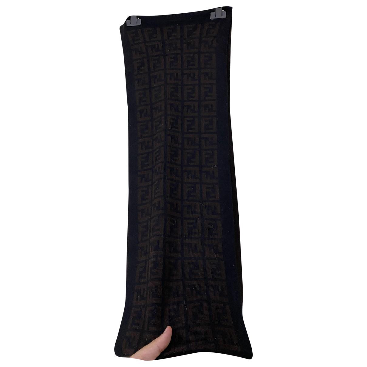 Fendi \N Black Wool scarf & pocket squares for Men \N