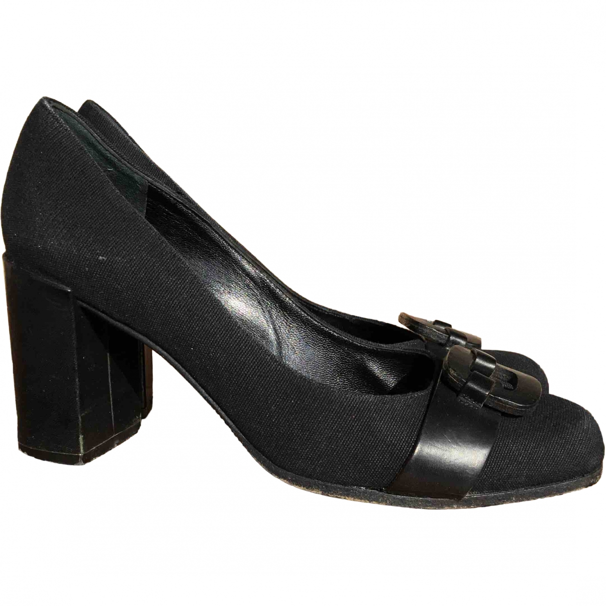 Robert Clergerie \N Black Leather Heels for Women 39 EU
