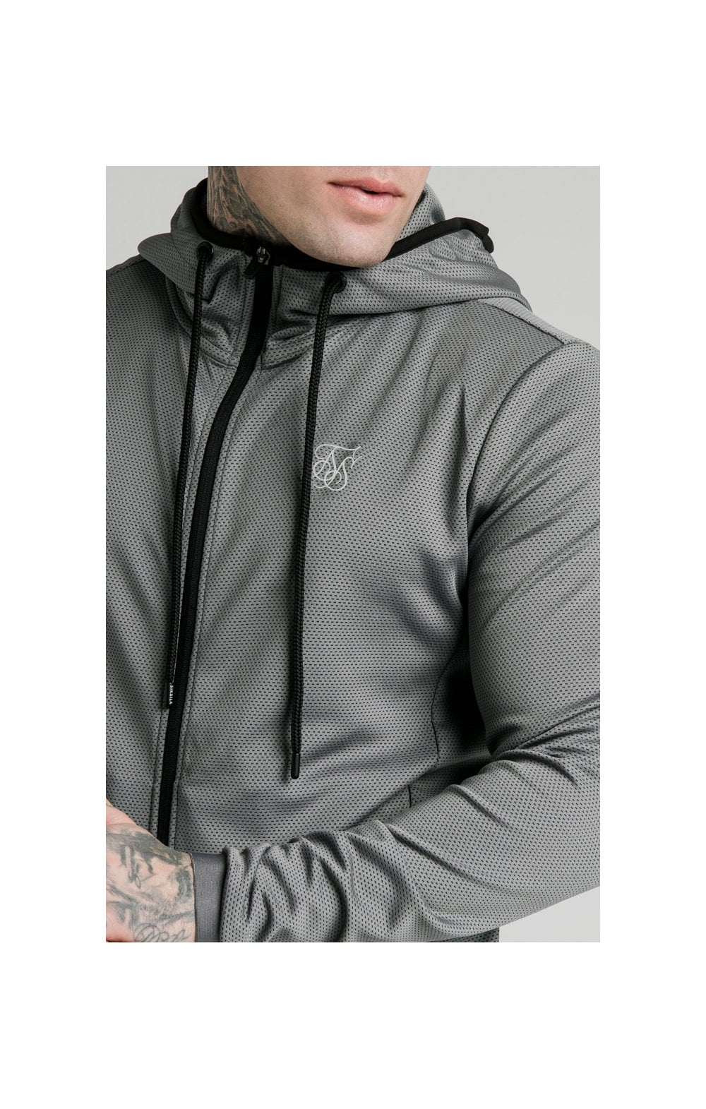 SikSilk Agility Active Zip Through Hoodie - Grey MEN SIZES TOP: Small