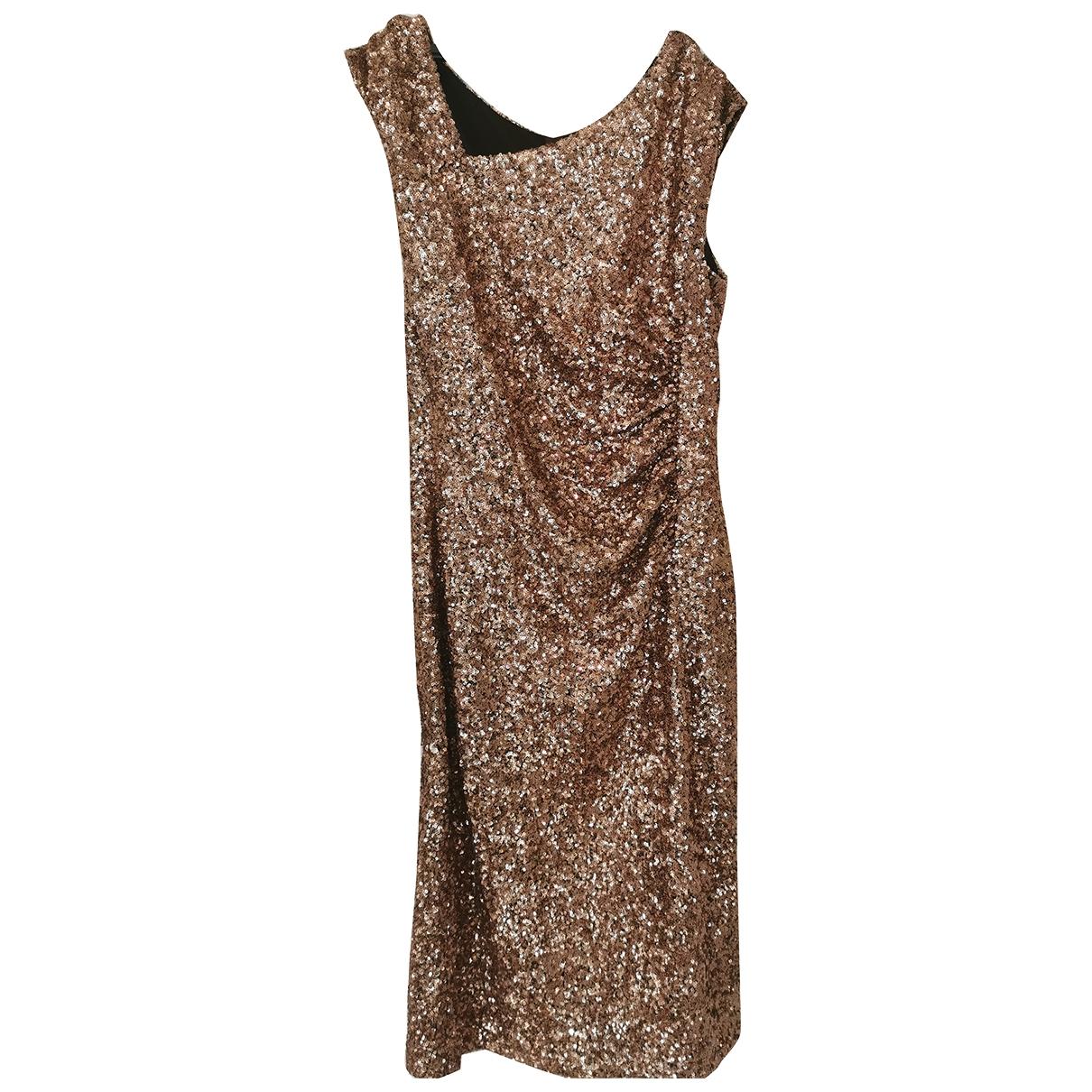 Lk Bennett \N Gold Glitter dress for Women 12 UK