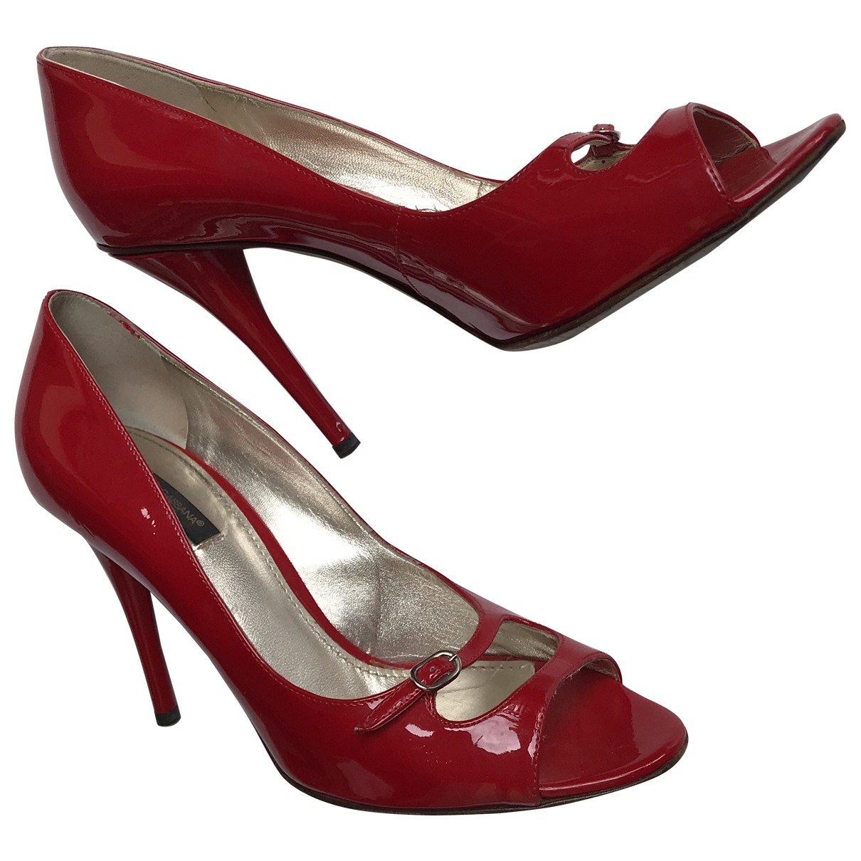 Dolce & Gabbana \N Red Patent leather Heels for Women 39 EU