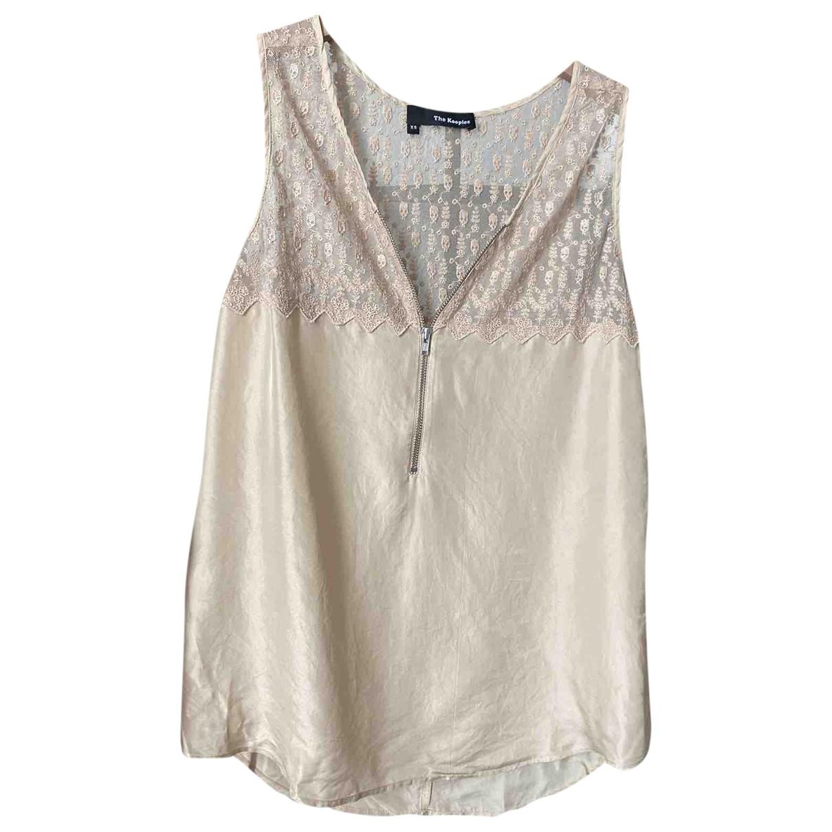 The Kooples \N Beige Silk  top for Women 34 FR