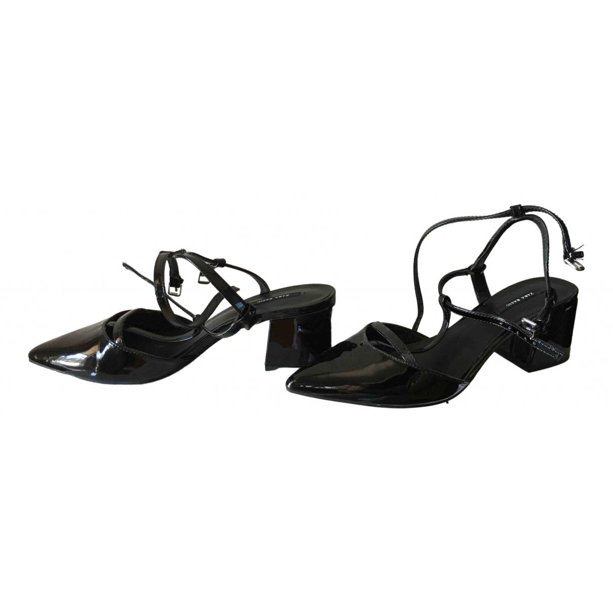 Zara \N Black Patent leather Heels for Women 38 IT