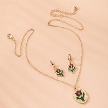 3pcs Floral Charm Jewelry Set
