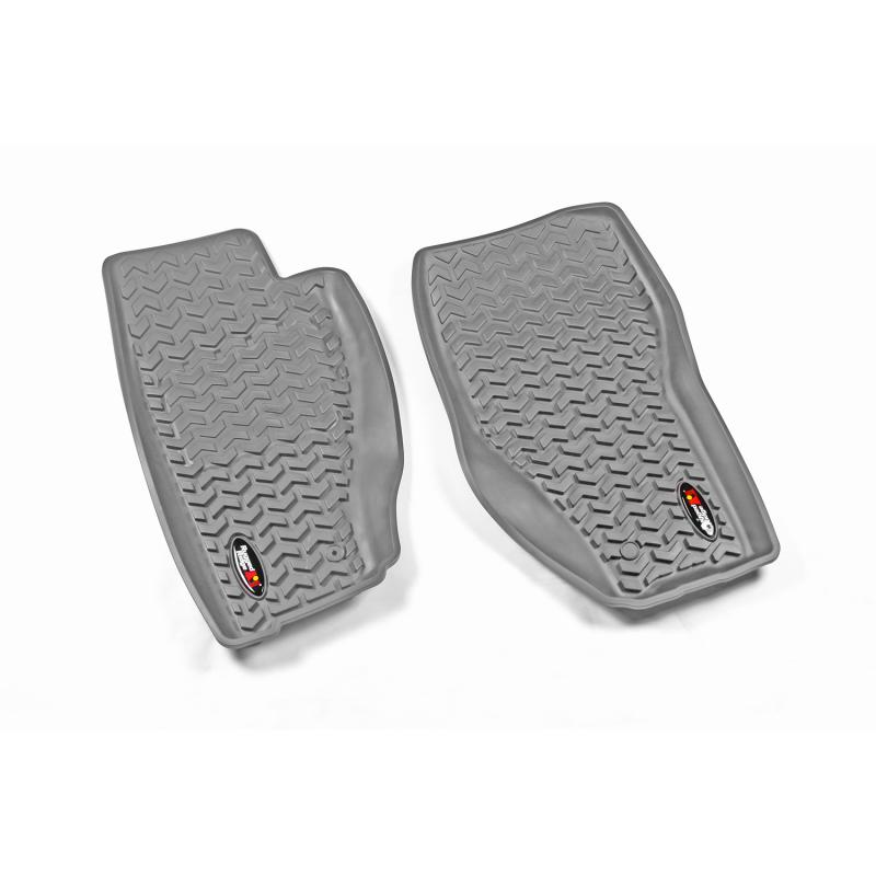 Rugged Ridge 14920.31 All Terrain Floor Liner, Front Pair, Gray; 08-12 Jeep Liberty KK Jeep Liberty 2008-2012
