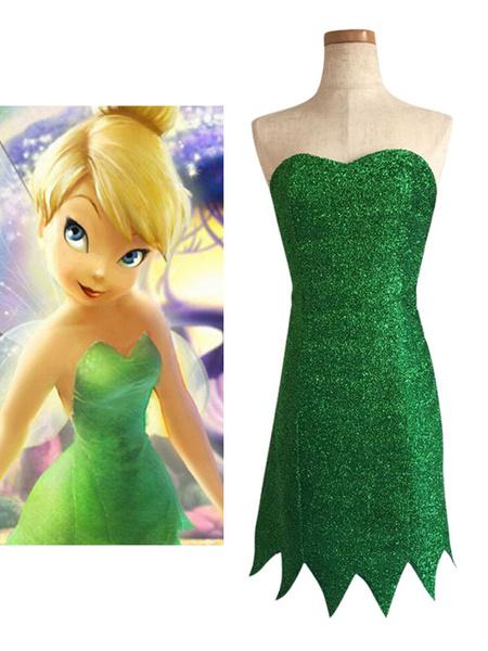 Milanoo Disney Tinker Bell Dress Cosplay Costume Halloween