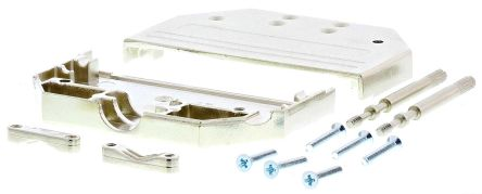 MH Connectors , MHDTZI Zinc D-sub Connector Backshell, 37 Way, Strain Relief, Silver