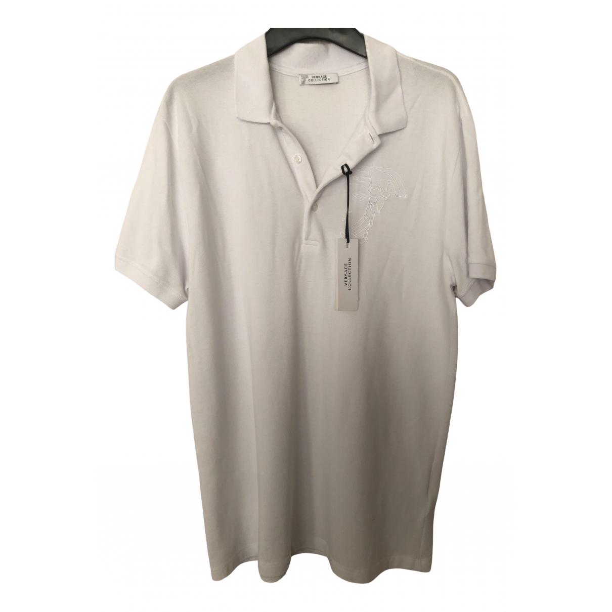 Gianni Versace \N White Cotton Polo shirts for Men L International