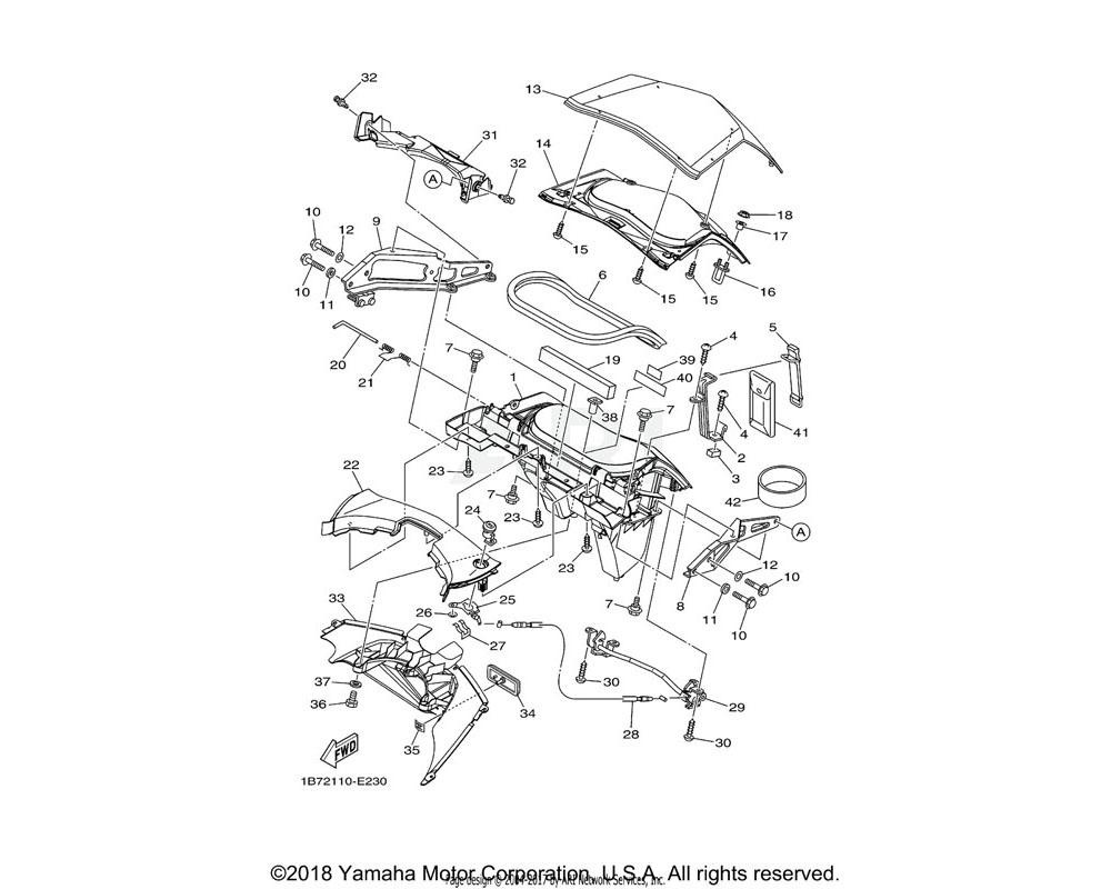 Yamaha OEM 1B7-2177B-00-P6 LID, COVER | FOR VDVM1