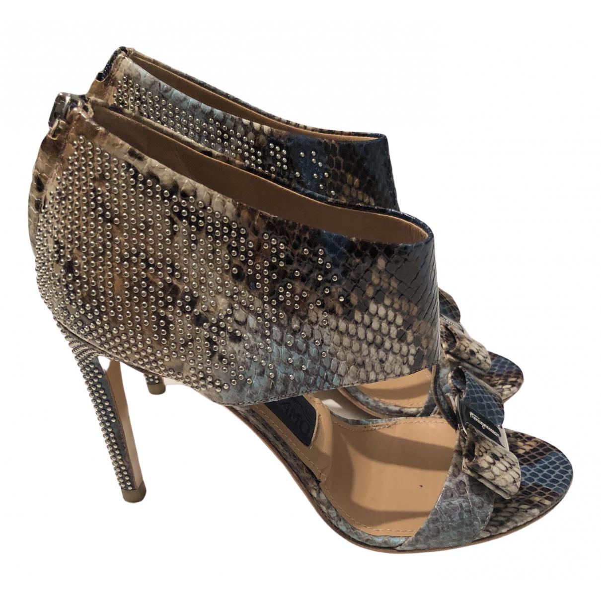 Salvatore Ferragamo \N Water snake Sandals for Women 7.5 US