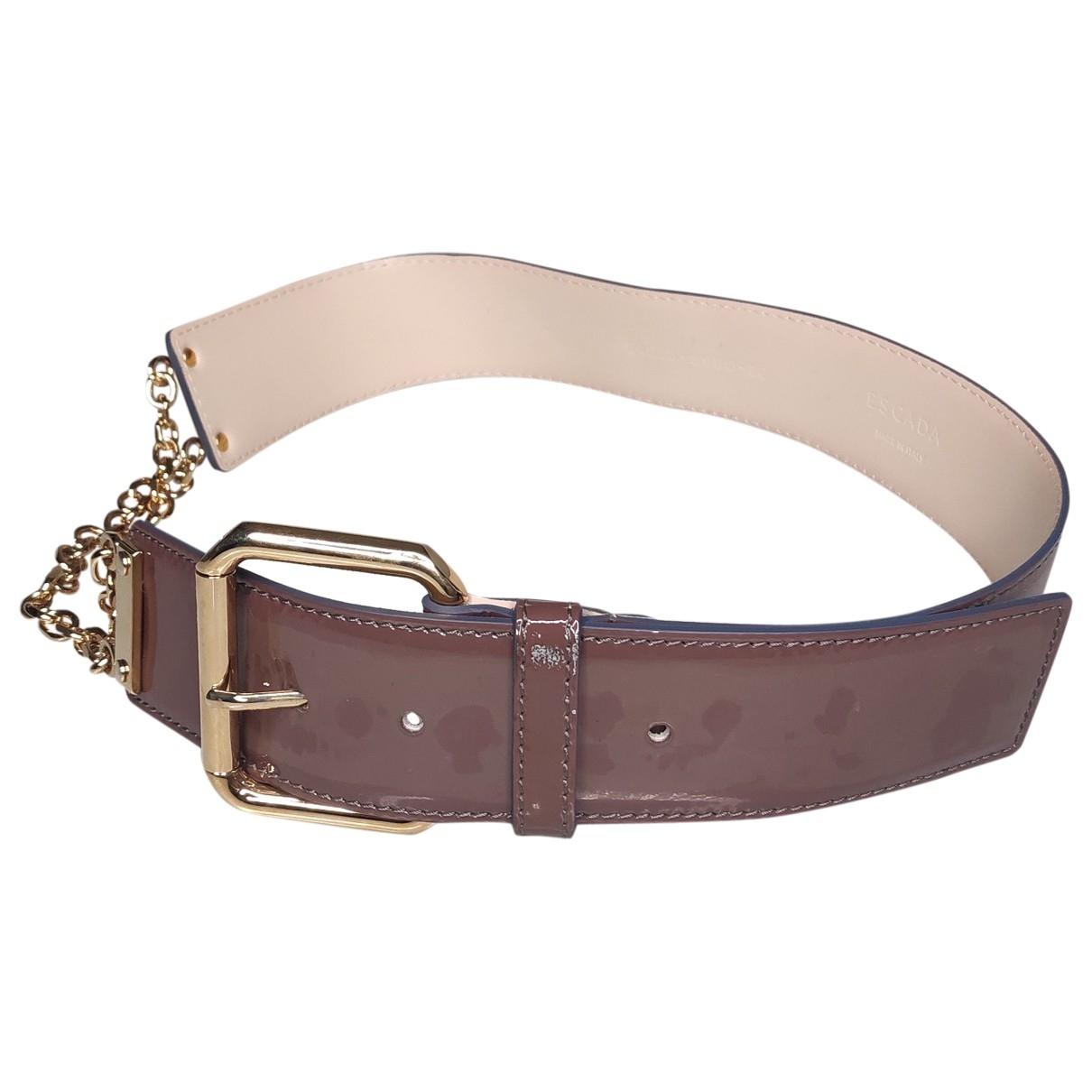 Escada \N Purple Patent leather belt for Women S International