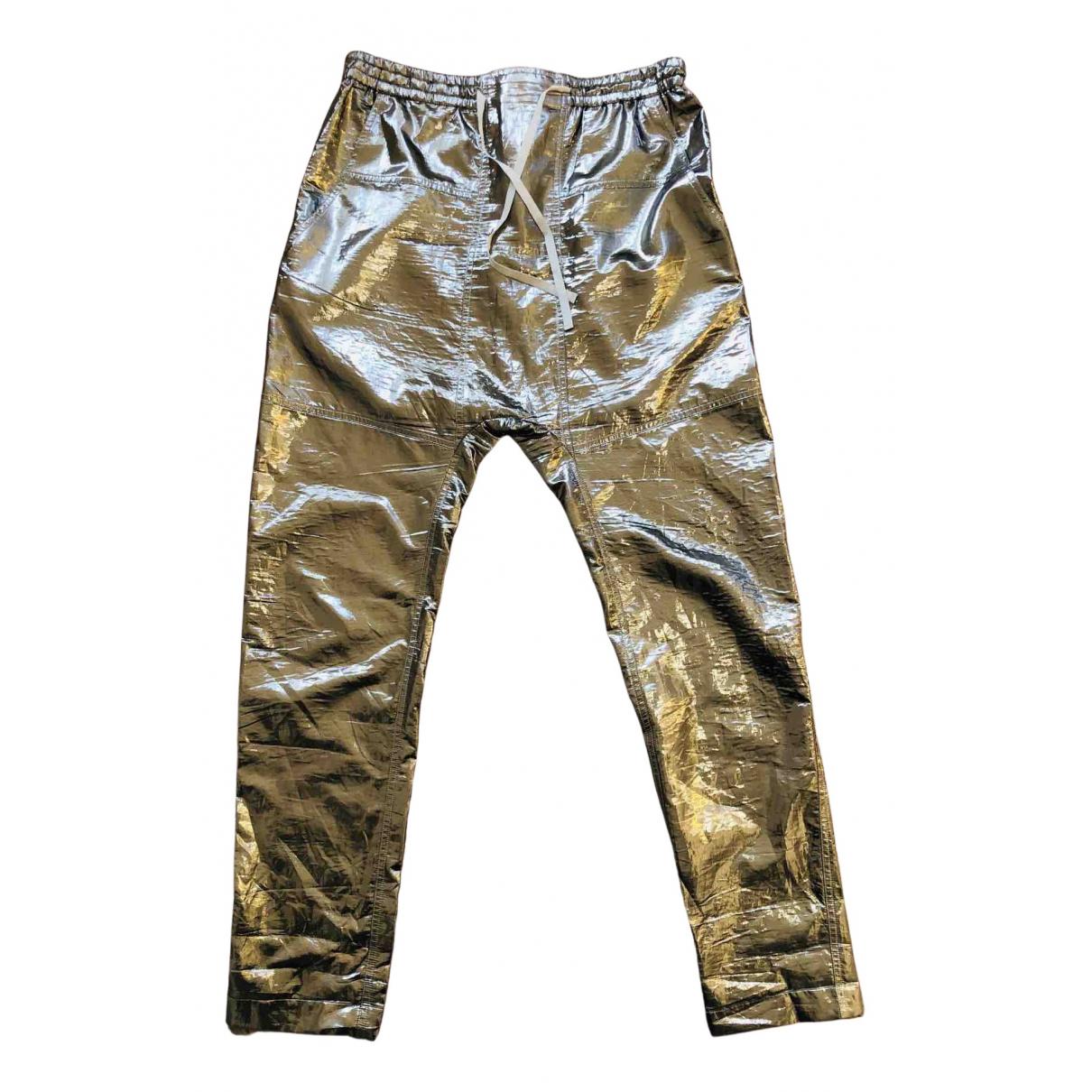 Isabel Marant \N Gold Silk Trousers for Women 40 FR