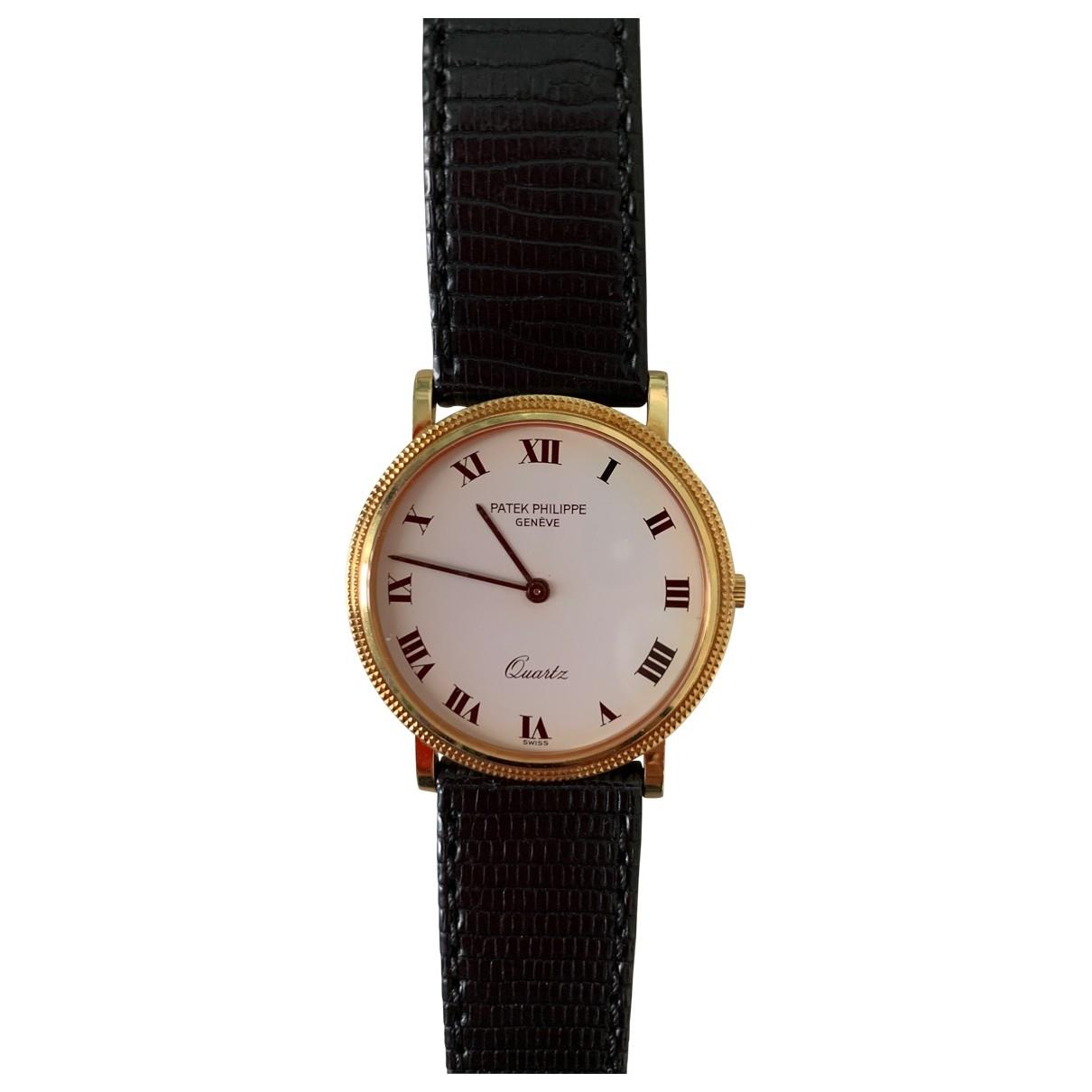 Patek Philippe Calatrava White Yellow gold watch for Men \N