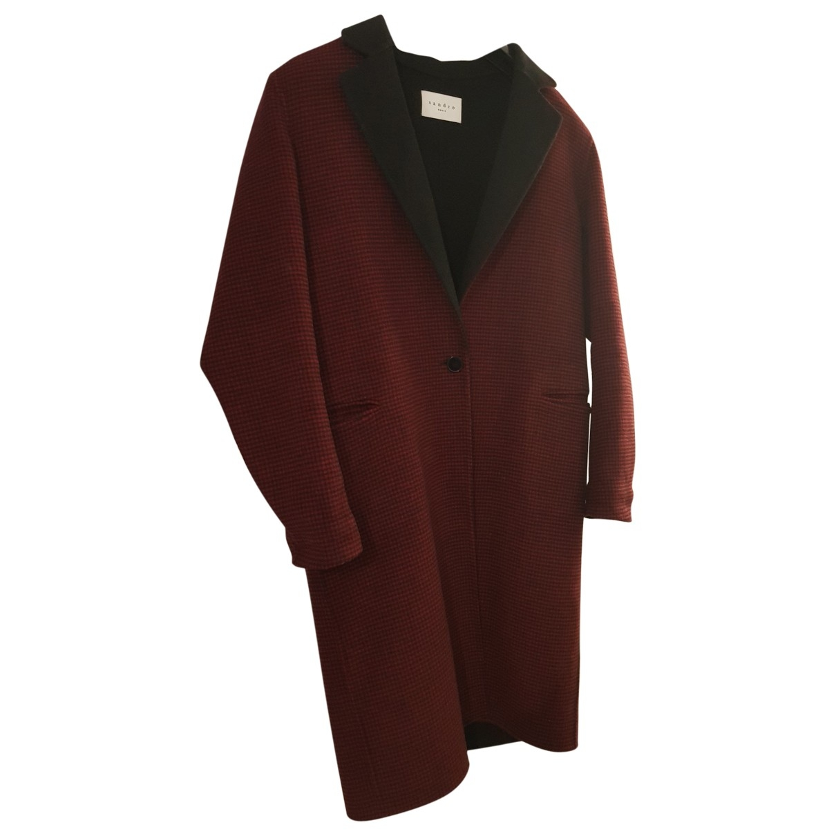 Sandro \N Burgundy Wool coat for Women 38 FR