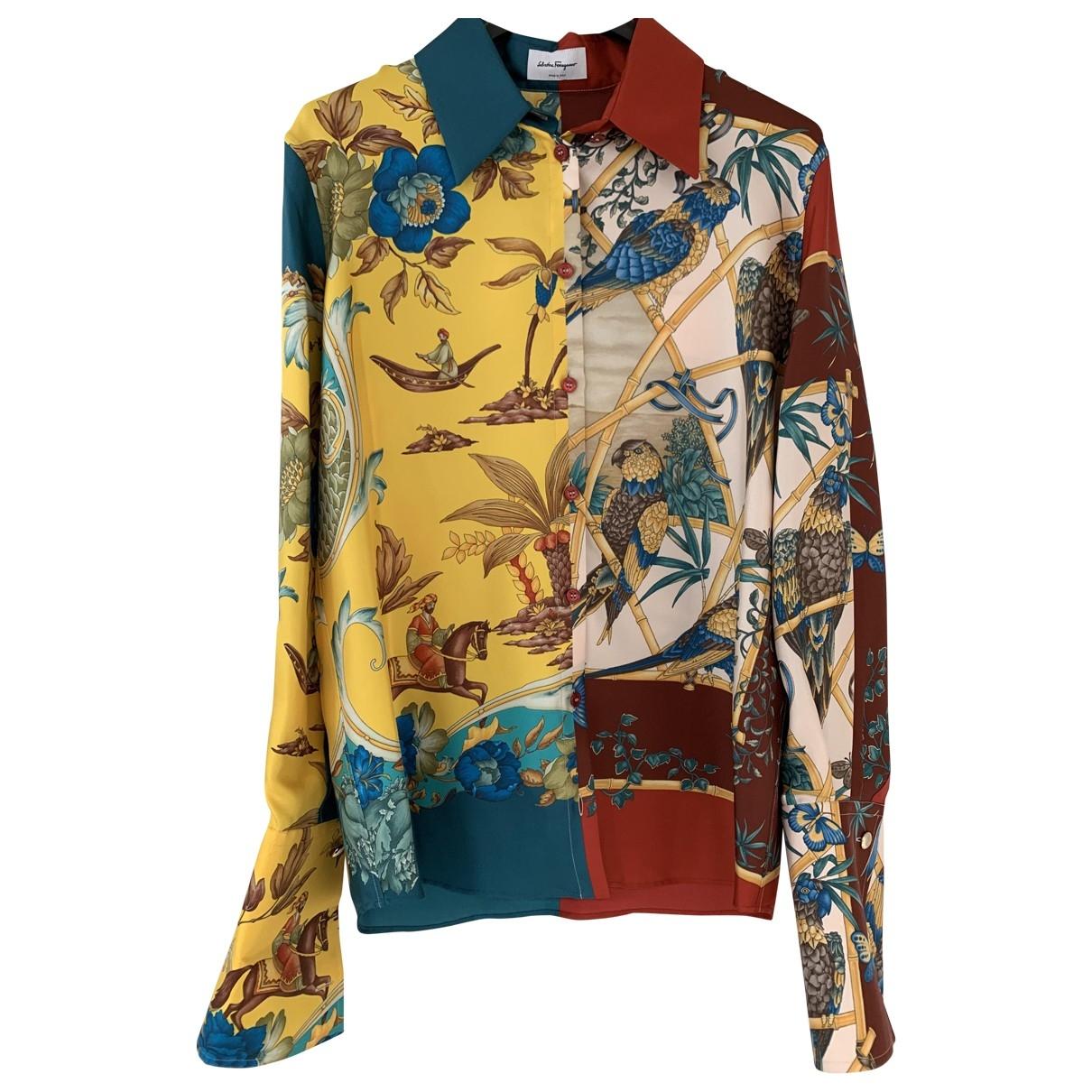 Salvatore Ferragamo \N Multicolour Silk  top for Women 42 IT