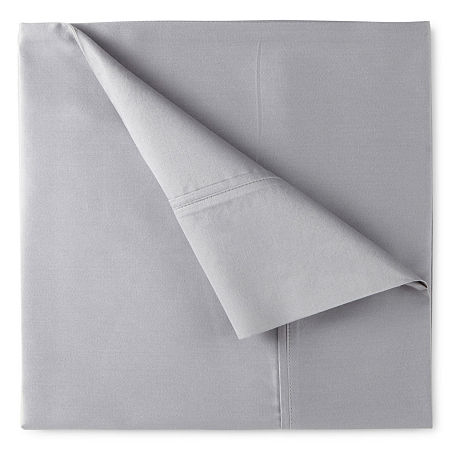 400tc Liquid Cotton Sateen Sheet Set - Liz Claiborne, One Size , Gray