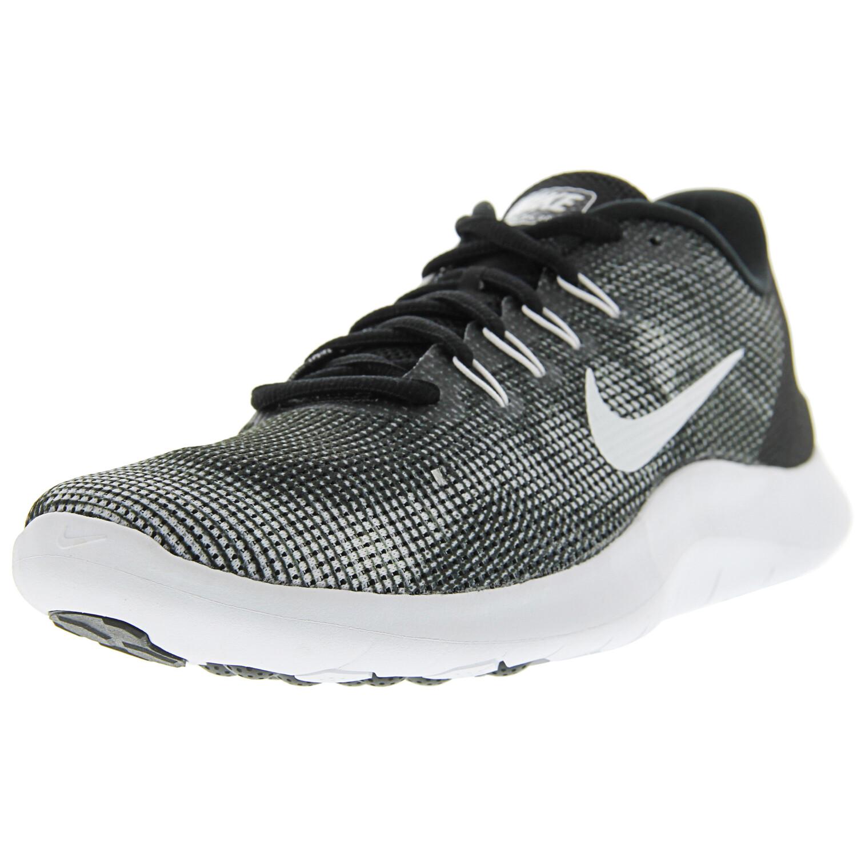 Nike Men's Flex 2018 Rn Black / White Ankle-High Mesh Running - 6M