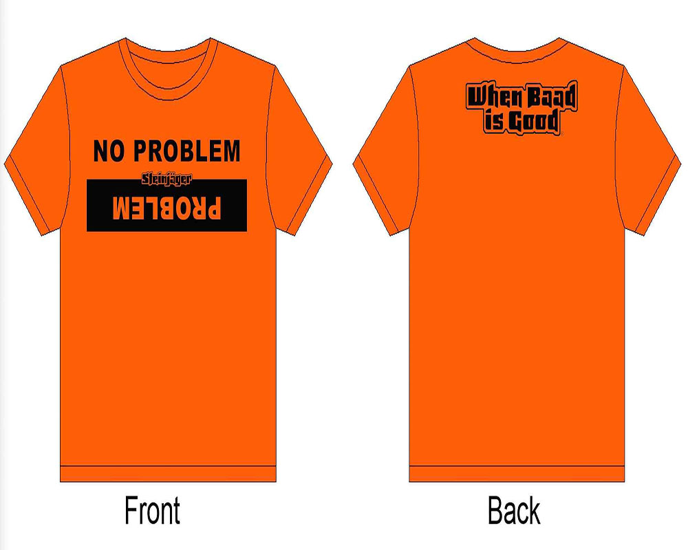 Steinjager J0047210 Orange Shirts Problem No Problem Size XXL