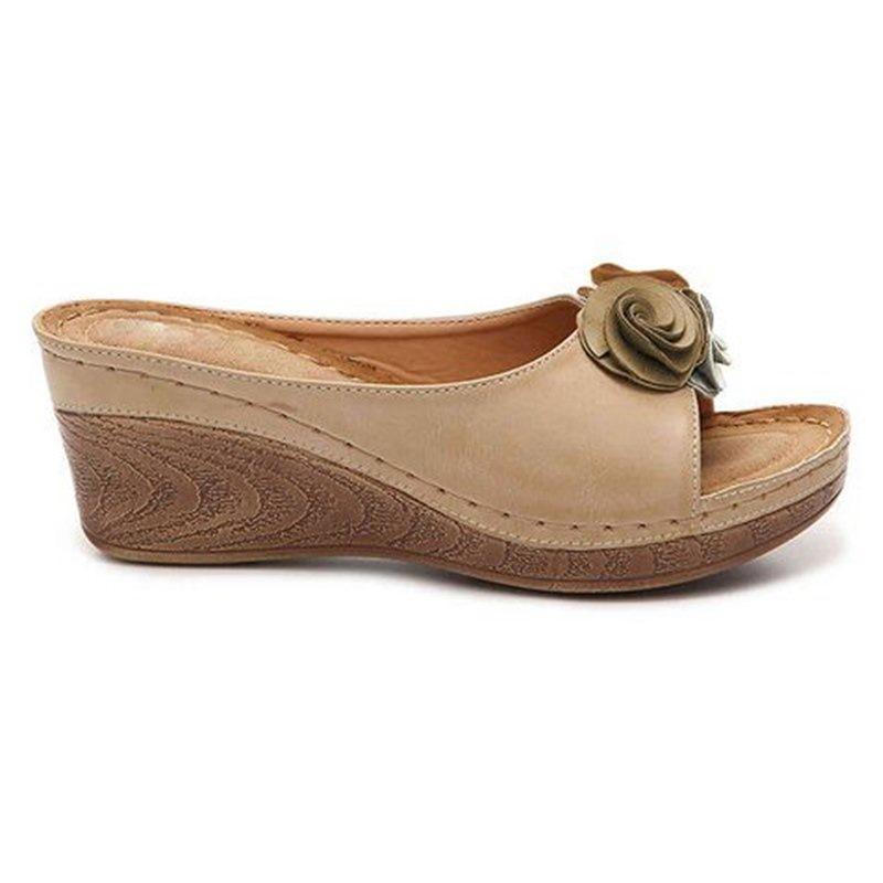 Ericdress Flip Flop Wedge Heel Thread Casual Slippers