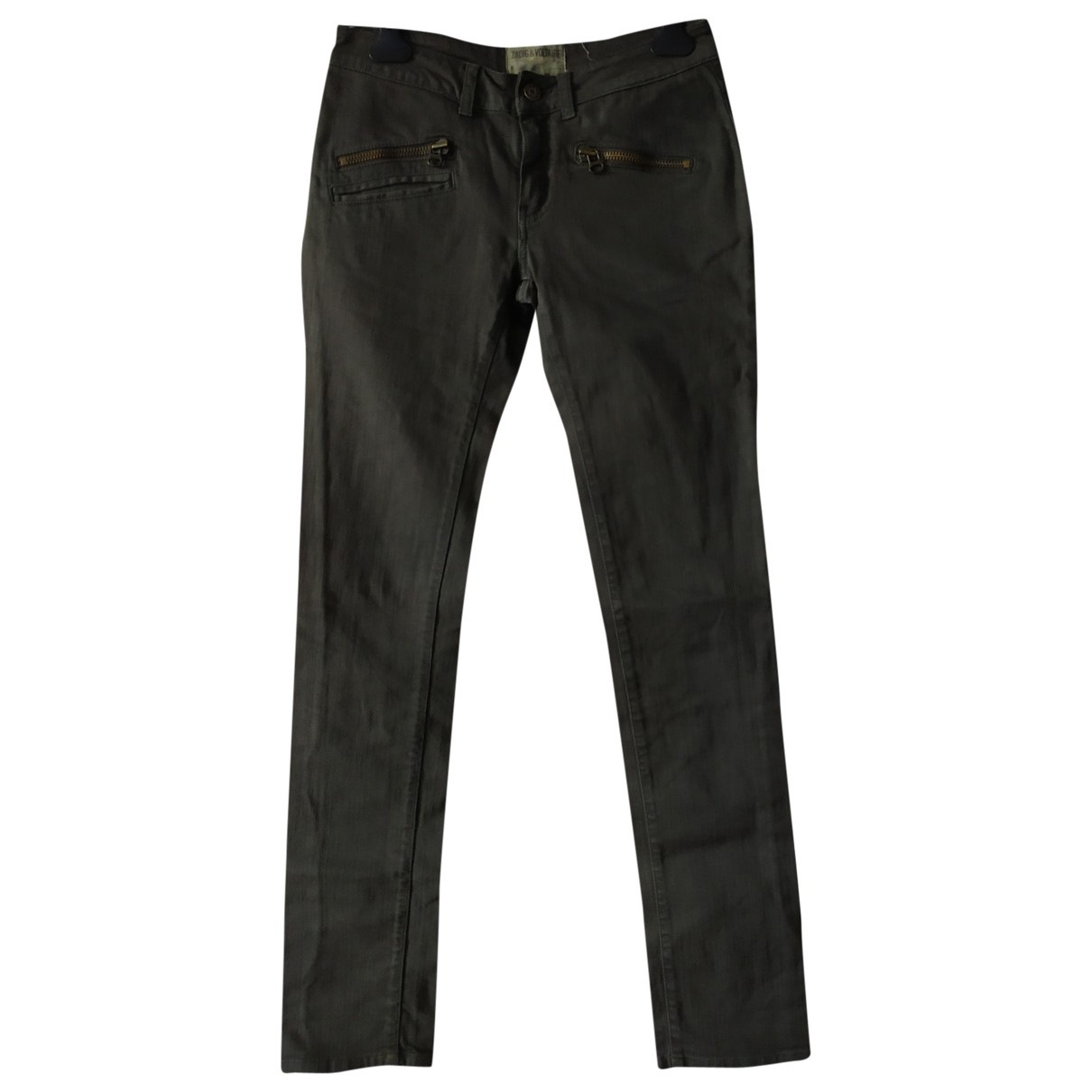 Zadig & Voltaire \N Grey Denim - Jeans Trousers for Women 34 FR