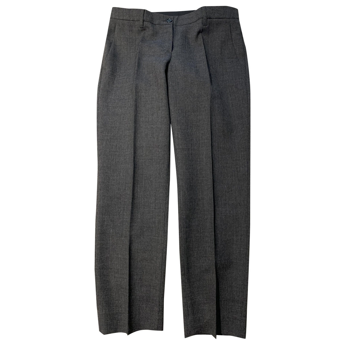 Moschino \N Anthracite Wool Trousers for Women 42 IT