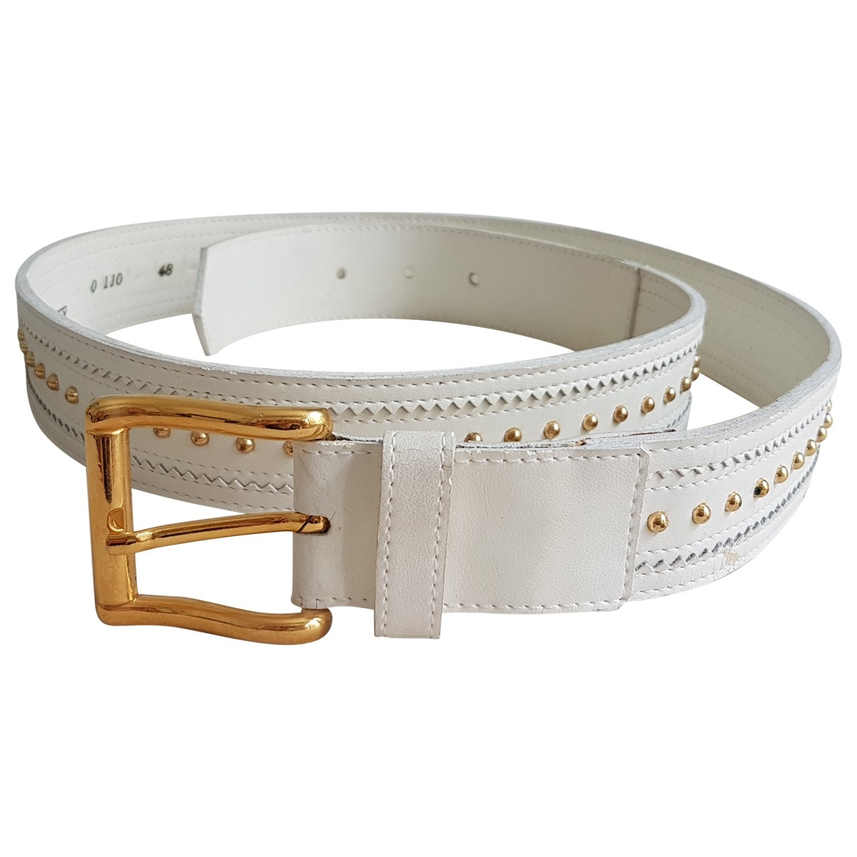 Givenchy \N White Leather belt for Women 95 cm