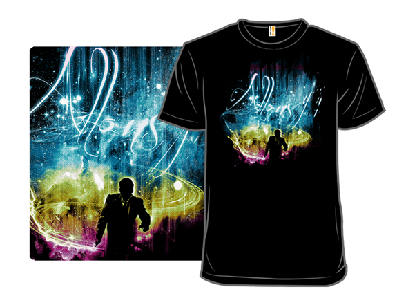 Space And Time Storming In Color T Shirt