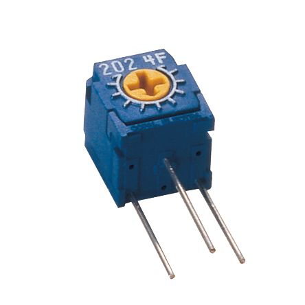 Copal Electronics 500Ω, Through Hole Trimmer Potentiometer 0.5W Side Adjust , CT6 (5)