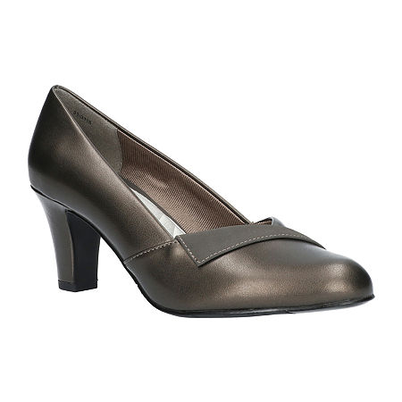 Easy Street Womens Casper Pumps Spike Heel, 8 Wide, Gray