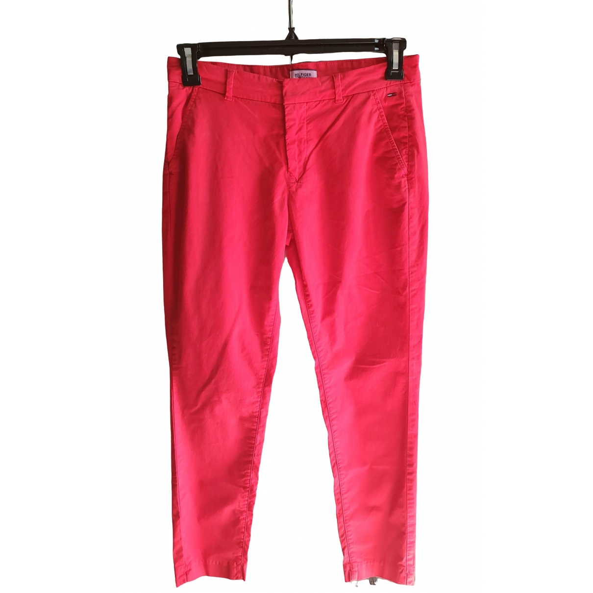 Tommy Hilfiger \N Red Denim - Jeans Trousers for Women 38 FR