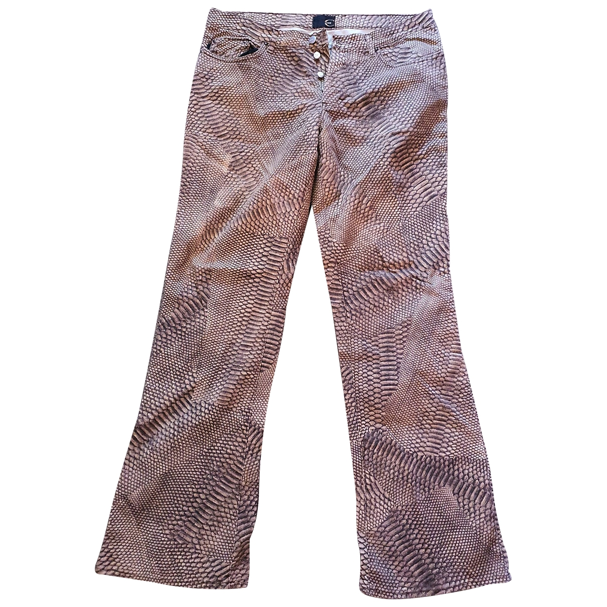 Just Cavalli \N Brown Cotton - elasthane Jeans for Men 32 US