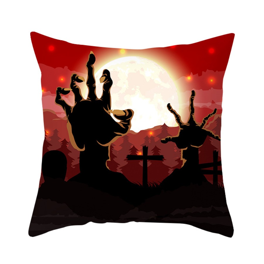 LW lovely Stylish Print Red Decorative Pillow Case