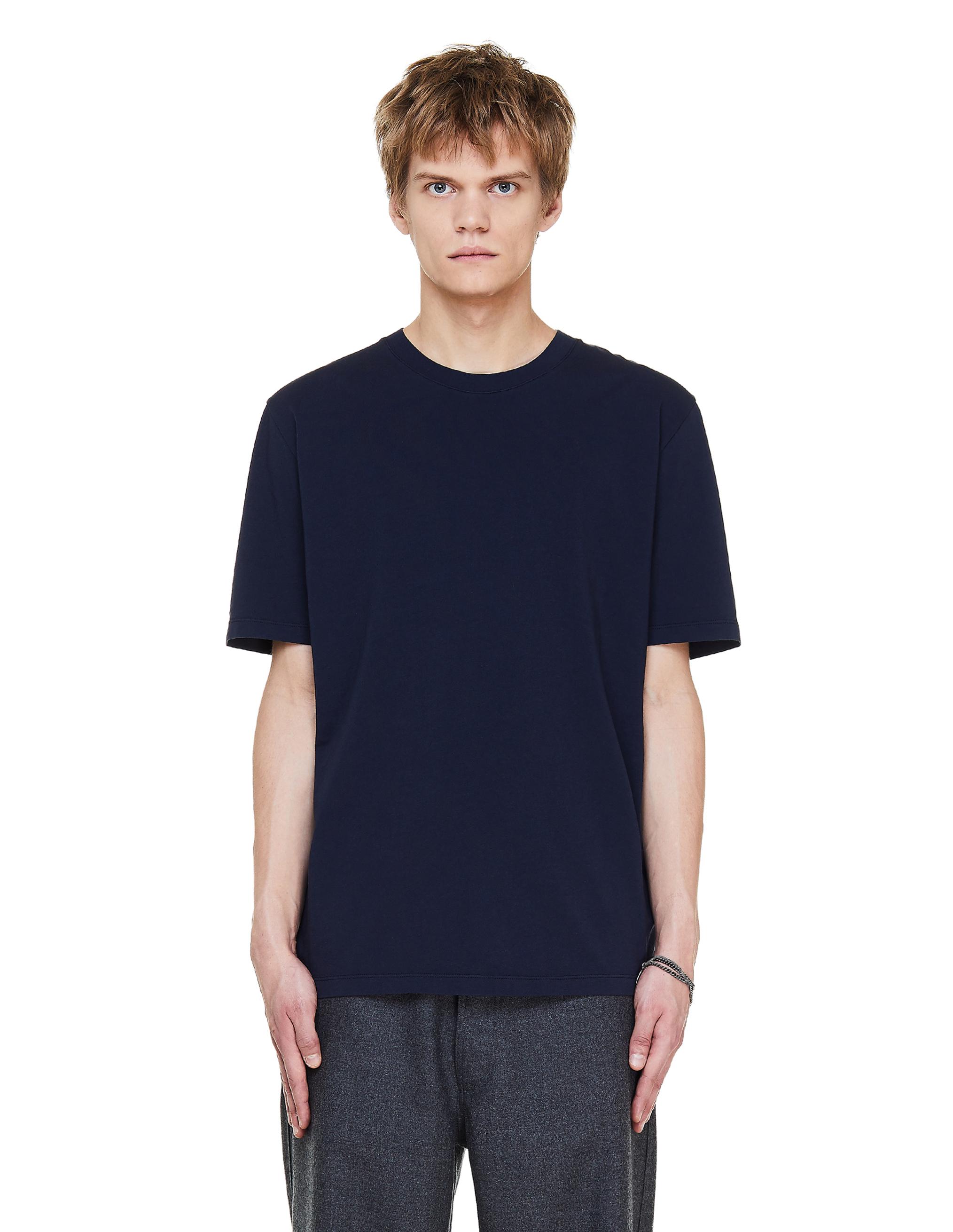 Maison Margiela Blue Cotton T-Shirt