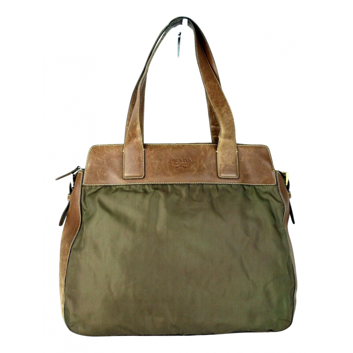Prada \N Khaki Cloth handbag for Women \N