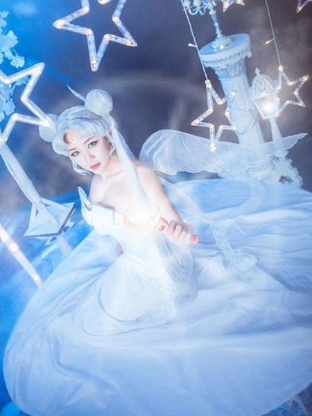Milanoo Sailor Moon Cosplay Princess Serenity Cosplay Dress Bow White Halloween Cosplay Costume
