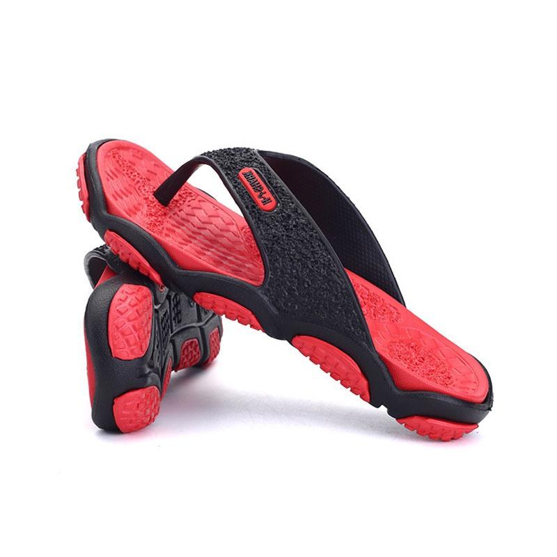 Ericdress PVC Color Block Thong Men's Slippers