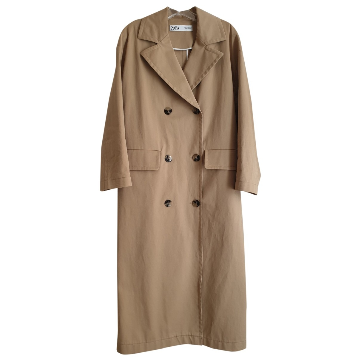 Zara \N Beige Cotton Trench coat for Women XS International