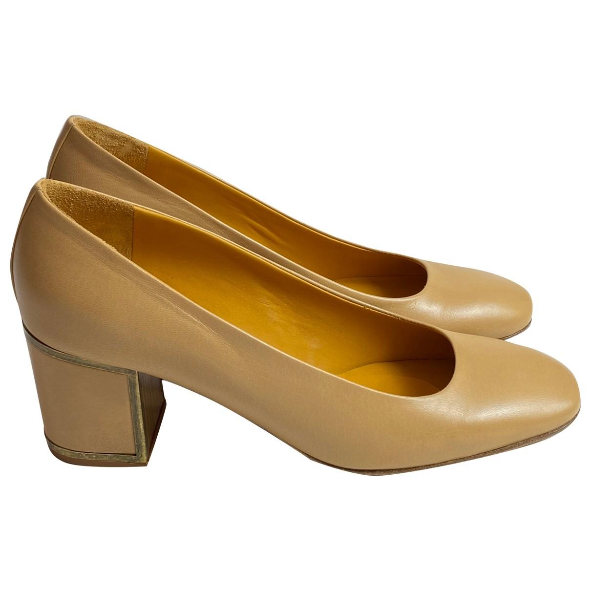 Véronique Branquinho \N Brown Leather Heels for Women 39 EU