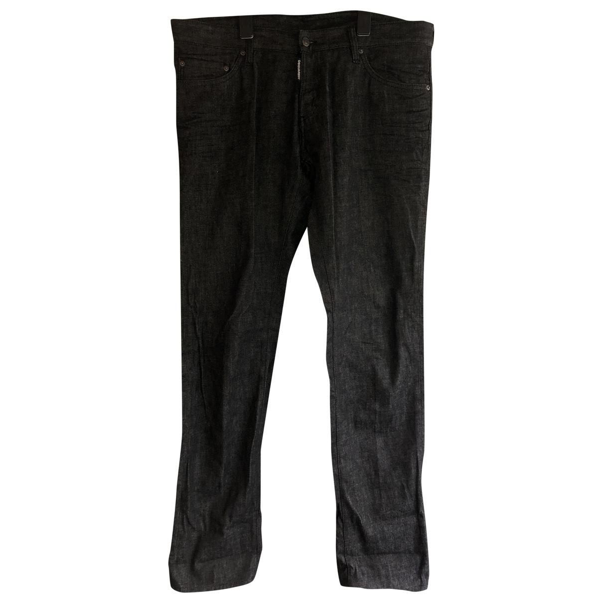 Dsquared2 \N Black Denim - Jeans Trousers for Men 54 IT