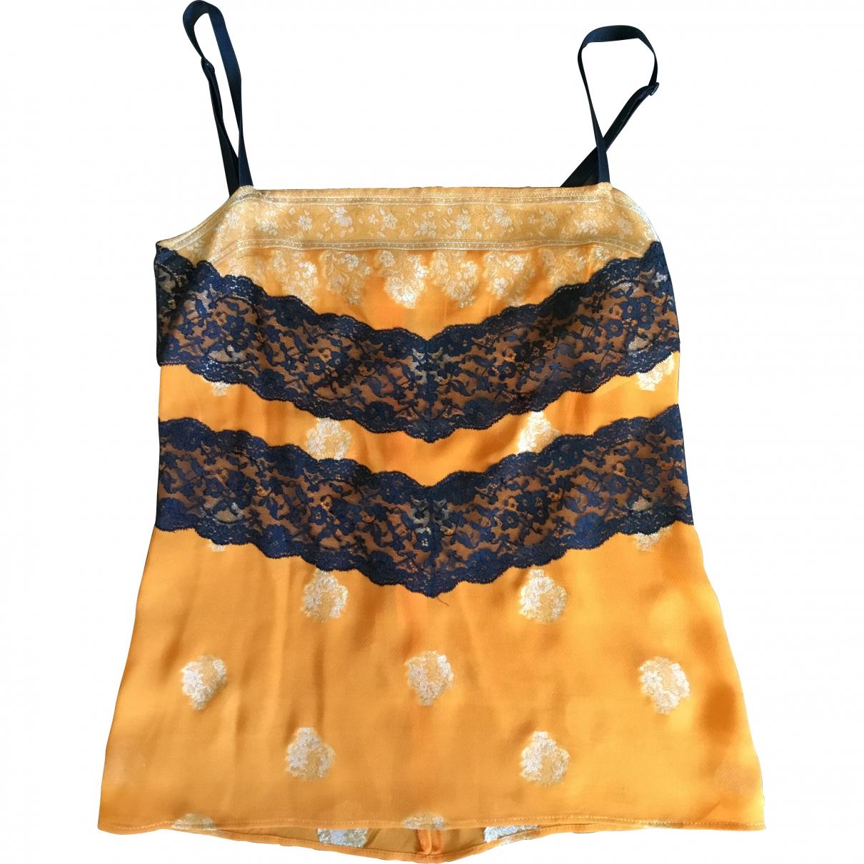 Dolce & Gabbana \N Orange Silk  top for Women 40 IT