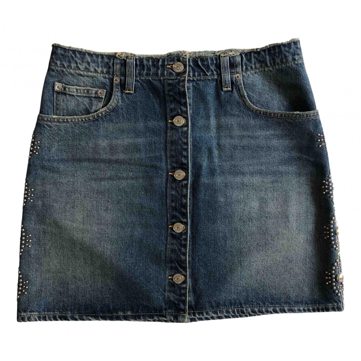 Golden Goose \N Blue Denim - Jeans skirt for Women M International