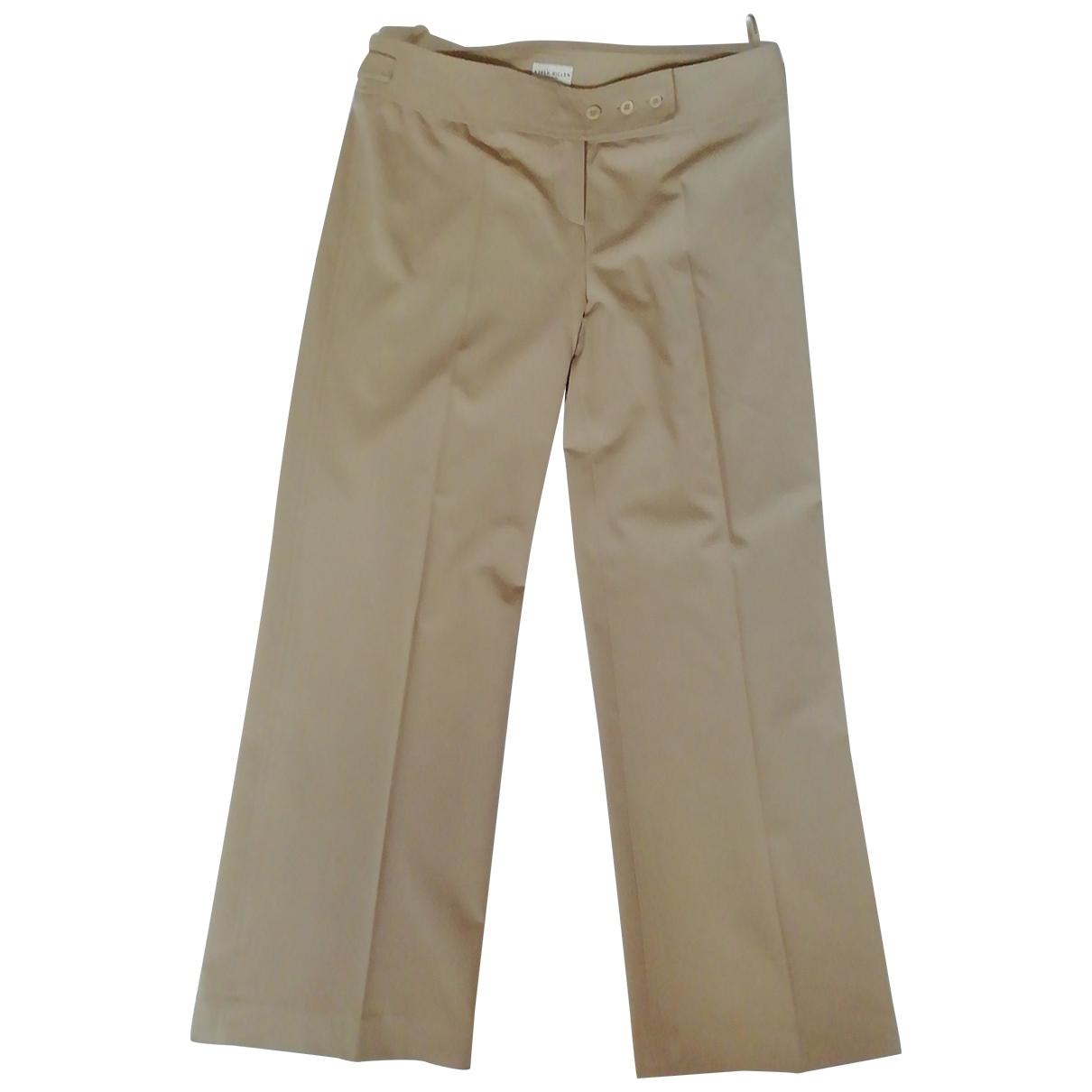 Karen Millen \N Beige Trousers for Women 14 UK