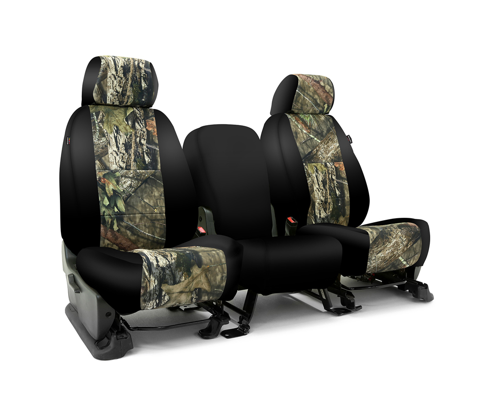 Coverking CSC2MO10GM9527 Skanda Custom Seat Covers 1 Row Neosupreme Mossy Oak Break Up Country with Black Sides Front GMC Sierra 1500 2014-2018