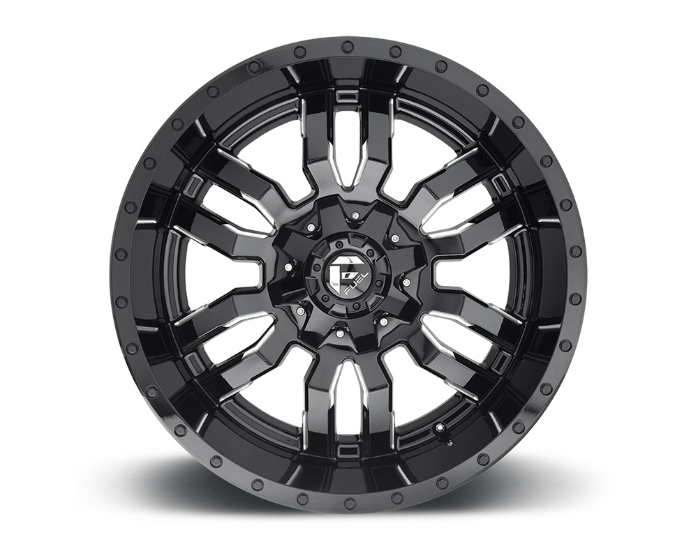 Fuel D595 Sledge Gloss Black & Milled 1-Piece Cast Wheel 20x10 6x135|6x139.7 -19mm